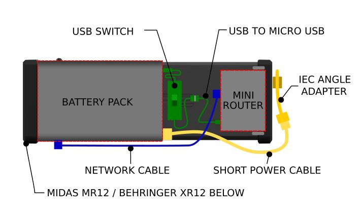 Battery Powered Midas MR12 Diagram
